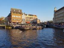 Center of Leiden, Netherlands Stock Photo