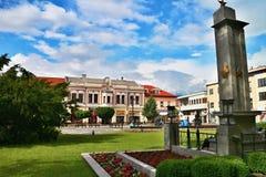 Center in Liptovsky Mikulas. Monument 2 WW in center town Liptovsky Mikulas Stock Photos