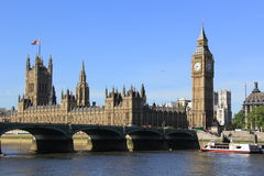 Center of London and Big Ben tower Stock Photography