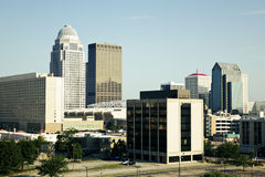 Center of Louisville. Kentucky. Seen morning time royalty free stock images