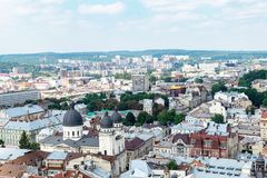 The center of Lviv Royalty Free Stock Image