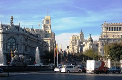 Center of Madrid Stock Photography