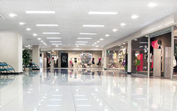 Center mall hall. Large modern shopping mall center Stock Photography