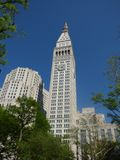 USA. New-York. Madison Square Park. Metropolitan Life Tower. It is in the center of Manhattan. Metropolitan Life Tower Built in 1907, it measures 213 meters for stock images