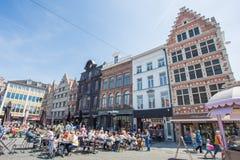 Center Market of Ghent, Belgium. Stock Image