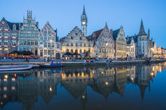 Center Market of Ghent, Belgium. Stock Photography