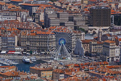 Center of Marseille at summer day Stock Image