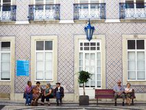 Center medical waiting. Old people waiting to see the doctor. Alfama, Lisbon, portugal Royalty Free Stock Image