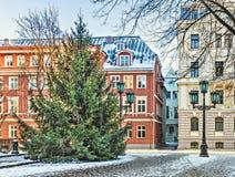 Center of medieval Riga city, Latvia Stock Photo