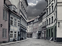 Center of medieval Riga city, Latvia Royalty Free Stock Photos