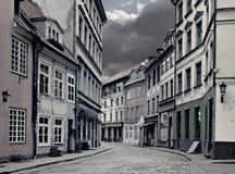 Center of medieval Riga city, Latvia Royalty Free Stock Photos