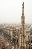 Center of Milan, view from gothic Cathedral Stock Photos