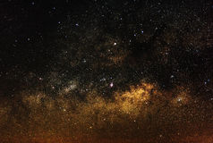Center of milky way galaxy Royalty Free Stock Image