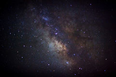 The center of the milky way galaxy, Long exposure photograph Royalty Free Stock Photography