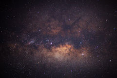 The center of the milky way galaxy, Long exposure photograph Stock Images