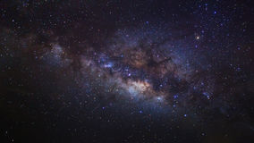 The center of the milky way galaxy, Long exposure photograph royalty free stock images