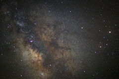 The center of the milky way galaxy, Long exposure photograph stock photography