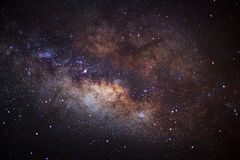 The center of the milky way galaxy, Long exposure photograph,wit Royalty Free Stock Images