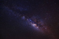 The center of the milky way galaxy, Long exposure photograph,wit Royalty Free Stock Photos