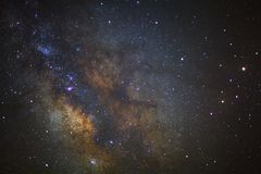 The center of milky way galaxy at phitsanulok in thailand. Long stock photo