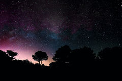 Center of The Milky Way. Royalty Free Stock Photos