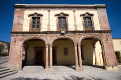 The center of mineral de pozos mexico royalty free stock images