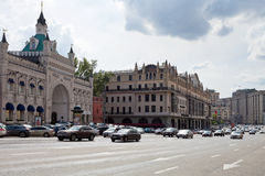 Center of Moscow - Teatralny proezd avenue Stock Images