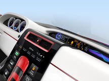 Center multi-information console design for intelligent electric car Stock Photography