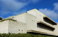 Center for Neural circuits, UCSD. The building structure of the center for neural circuits and behavior under the blue sky at University of California, San Diego royalty free stock photo