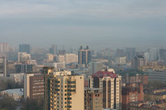 The center of Novosibirsk. View from above Royalty Free Stock Photos