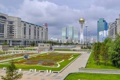 In the center of Nursultan stock photos