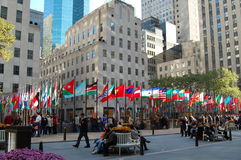 center nya rockefeller york Royaltyfria Foton