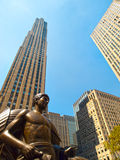 center nya rockefeller york Royaltyfri Foto