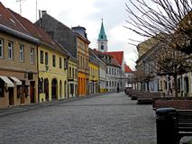 The center of the old part of town of Varazdin Royalty Free Stock Image