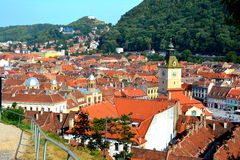 Center of old town, Brasov, Transilvania Royalty Free Stock Photo