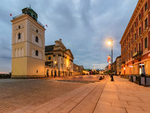 Center of the old town in Warsaw, Poland Royalty Free Stock Image