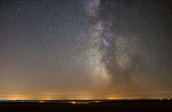 The center of our home galaxy, the Milky Way galaxy, night stars landscape stock photos