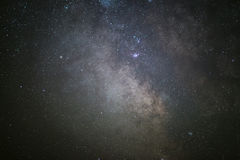 The center of our home galaxy, the Milky Way galaxy, night stars landscape royalty free stock image