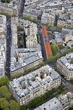 Center of Paris from the top Stock Images