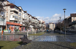Center of Petrosani town - RAW format. Center of Petrosani town in Romania Royalty Free Stock Images