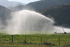 Center-pivot irrigation Stock Photo