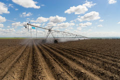 Center-Pivot Irrigation Waterwheel Circle Farm Field Agriculture Royalty Free Stock Photo