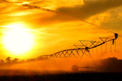 Center Pivot Irrigation Waterwheel Water Sprinkler Stock Photos