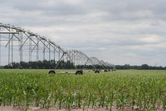 Center pivot irrigation well  Royalty Free Stock Images