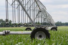 Center pivot irrigation well  Royalty Free Stock Photo