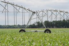 Center pivot irrigation well   Stock Images