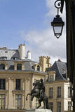 At the center of the Place des Victoires Royalty Free Stock Photo