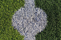 Center point,football field. Royalty Free Stock Images