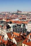 Center of Prague. Castle and Historical Center of Prague, Czech Republic Stock Photos