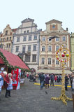At the Center of Prague in December Royalty Free Stock Photography